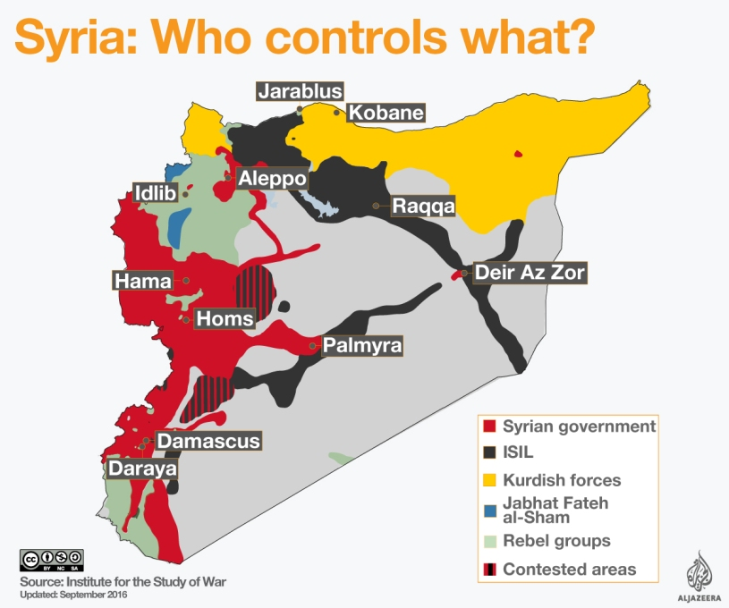 Syrian Civil War Map – Global Affairs Press