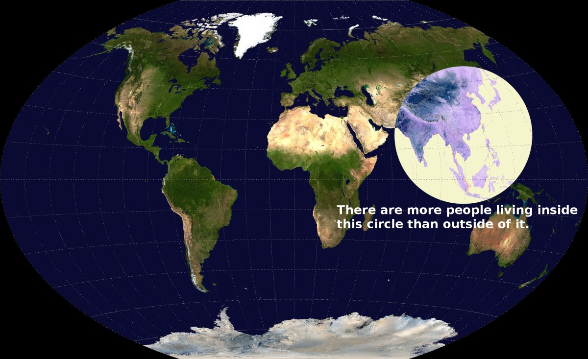 The Majority of the World's Population Lives in This Circle